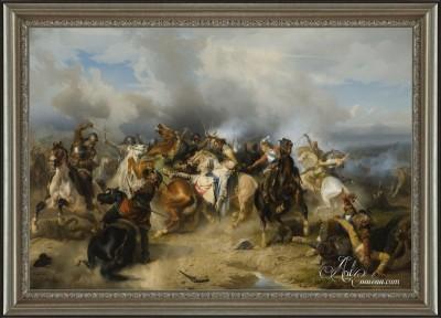 Death of King Gustav II, after Carl Wahlbom