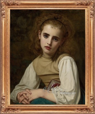 Victorian Painting of a Young Beauty, after Hughes Merle