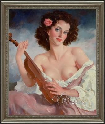 Sensuous Portrait, after Hungarian artist Maria Szantho