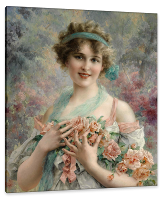 Young Beauty with Roses, c.1919, Oil on Canvas