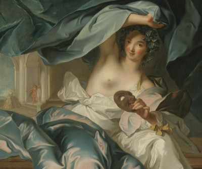 Portrait of the Duchesse de Chateauroux as Thalia, Muse of Comedy, c.1755, Oil on Canvas