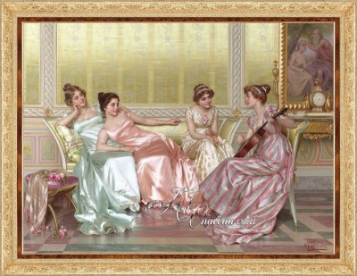 La Soiree, after Painting by Vittorio Reggianini