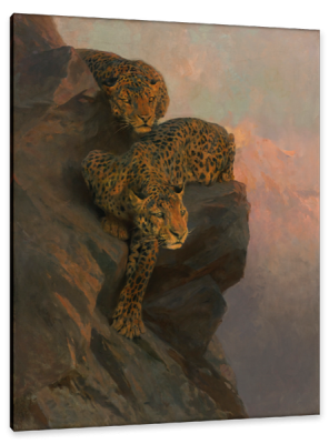 Leopards on the Lookout, c.1900, Oil on Canvas