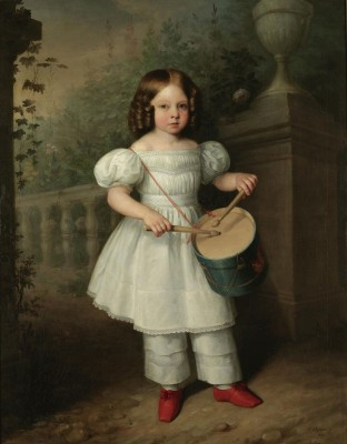 Nina, Playing a Drum, c.1850, Oil on Canvas