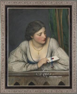 The Love Letter, after Austrian artist Eugen von Blaas