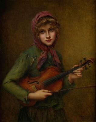 The Young Violin Player, c.1898, Oil on Canvas