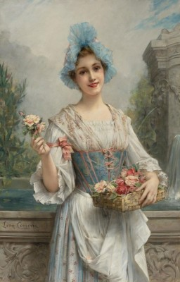 The Flower Girl, c.1880, Oil on Canvas