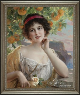 Beauty Under the Orange Tree, after Emile Vernon