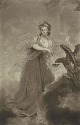 Portrait of Sophie Musters as Hebe, c.1785,  Drawing on Parchment