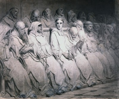 The Neophyte, c.1875, Black Ink with Grey Wash on Parchment