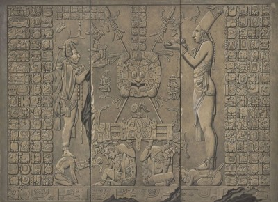 Mayan Zodiac, c.1835, Rendered in Bold Chiaroscuro