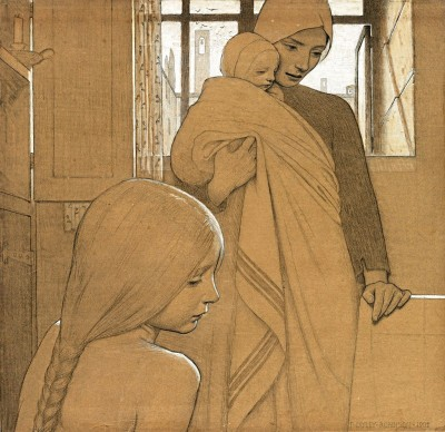 Study for Twilight, c.1894, Pencil with Color Wash