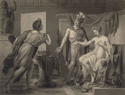 Alexander Ceding Campaspe to Apelles, c.1819, Pencil, Chalk on Parchment