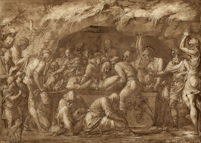 The Entombment, c.1550, Black Ink with Brown Wash