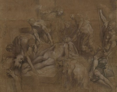 Lamentation of Christ, c.1598, Pen, Chalk and Brown Paper