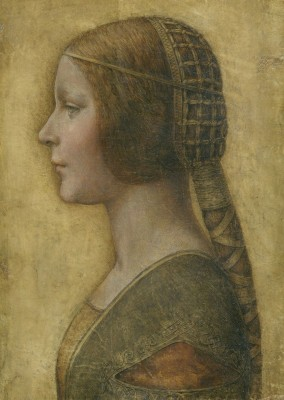 The Beautiful Princess, c.1492,  Chalk and Ink Drawing