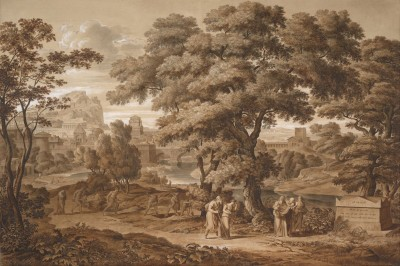 Oedipus and Antigone Leave Thebes, c.1797, Pen and Brush Wash