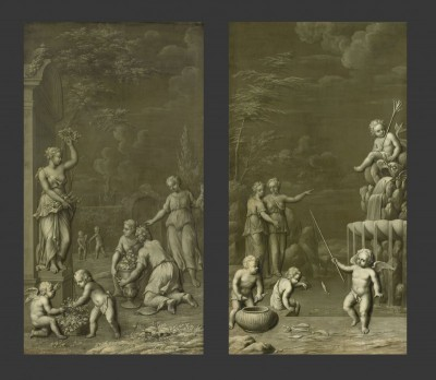 Homage to Pomona, c.1734, Oil on Paper Mounted on Canvas