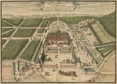 Perspective of Chateau de Belleroy, France, c.1715, Engraving on Parchment