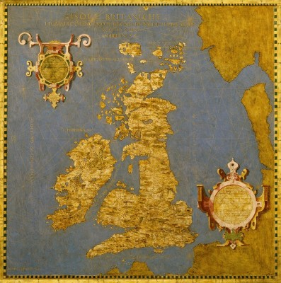 16th Century Map of Great Britain and Ireland, c.1565, Oil Painting on Wood