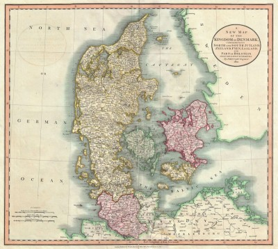 Map of the Kingdom of Denmark, c.1801, Engraving on Parchment