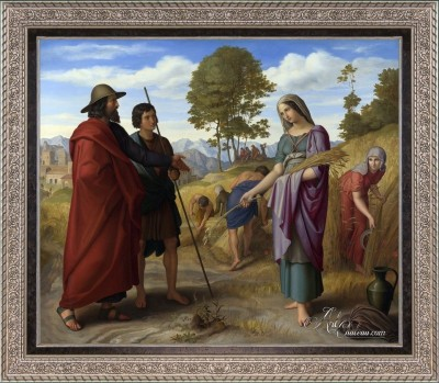 Ruth in Boaz's field, after Julius von Carolsfeld