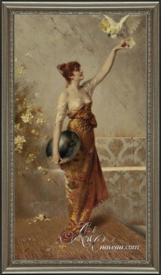 Traditional Interior Design,  Conrad Kiesel Painting