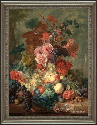 Garland of Flowers, after Abraham Mignon