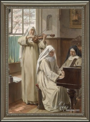 Music in the Cloister, after August Wilhelm Roesler