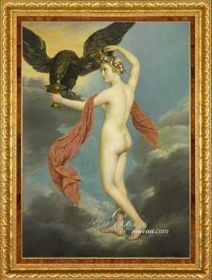 French Interior Design Painting, Hebe with Jupiter