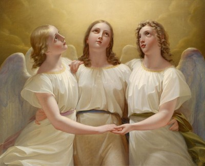 Three Guardian Angels, c.1820, Oil on Canvas