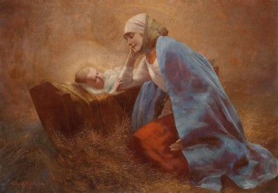 Maria with the Infant Jesus, c.1905, Oil on Canvas