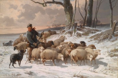 Sheep Returning Home, c. 1889 Oil on Canvas