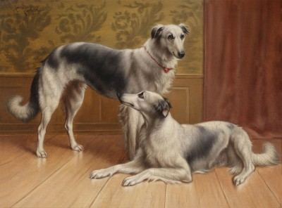 Two Greyhounds, c.1901, Oil on Canvas