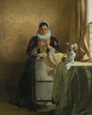 The Lace Maker, c.1884, Oil on Canvas