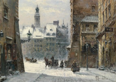 View of Krakow, c.1932, Oil on Canvas