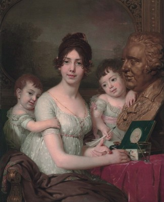 Countess Liubov Bezborodko with Children Aleksandr and Grigorii, c.1800, Oil on Canvas