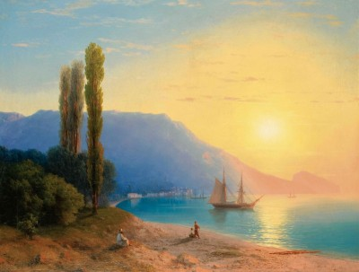Sunset over Yalta, c.1861, Oil on Canvas