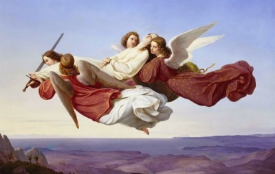 The Body of Saint Catherine of Alexandria Borne to Heaven by Angels, c.1880, Oil on Canvas