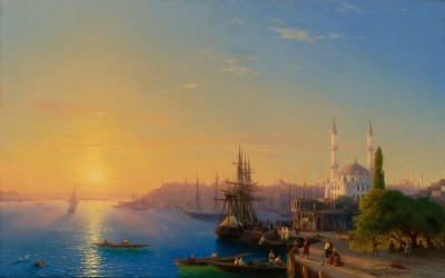 View of Constantinople and the Bosphrus c.1856, Oil on Canvas
