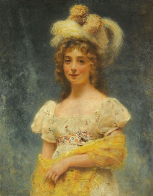 Portrait of a Young Girl, c.1890, Oil on Canvas