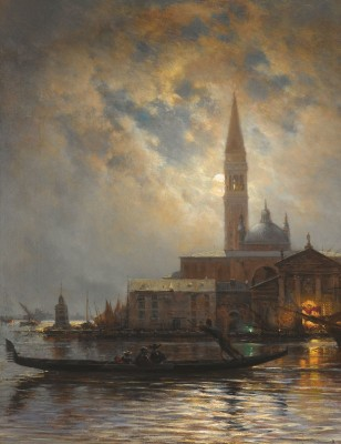 Venice by Moonlight, c.1880, Oil on Canvas