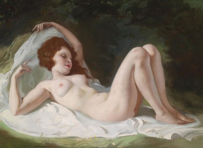 Reclining Nude, c.1930, Oil on Canvas