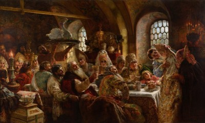 A Boyar Wedding Feast, c.1883, Oil on Canvas