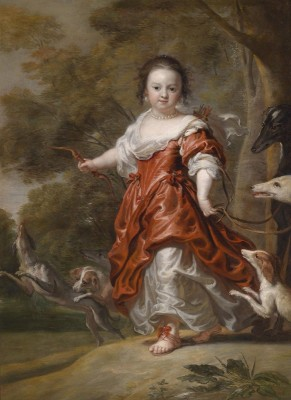 Portrait of a Young Girl as Diana, c.1660, Oil on Canvas