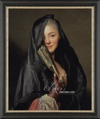 Lady with the Veil, after Swedish artist Alexander Roslin