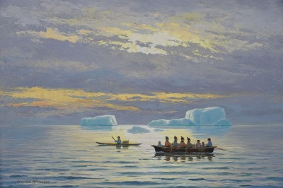 Fishing Departure, c.1928, Oil on Canvas