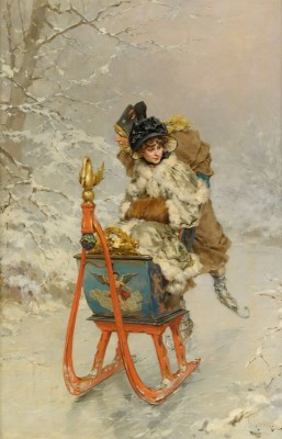 The Sleigh Ride, c.1880, Oil on Canvas