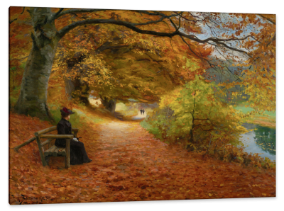 Wooded Path in Autumn, c.1898, Oil on Canvas
