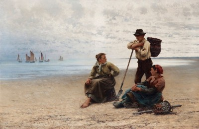 Conversation by the Sea, c.1903, Oil on Canvas